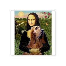 "Mona & her Bloodhound Square Sticker 3"" x 3"""
