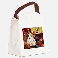 Santa's Bolognese pair Canvas Lunch Bag