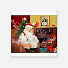 "Santa's Bolognese pair Square Sticker 3"" x 3"""