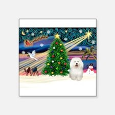 "Xmas Magic/Bolognese Square Sticker 3"" x 3"""