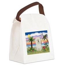 Palms & Bolognese Canvas Lunch Bag