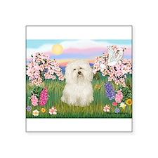 "Bolognese/Blossoms Square Sticker 3"" x 3"""