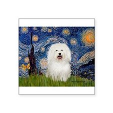 """Starry Night Bolognese Square Sticker 3"""" x 3"""""""