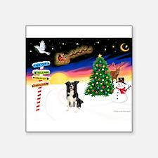 """XmasSigns/Border Collie #4 Square Sticker 3"""""""