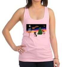 XmasSigns/Border Collie #4 Racerback Tank Top