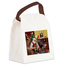 Santa's Border Terrier Canvas Lunch Bag