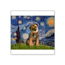 "Starry Night/Border T Square Sticker 3"" x 3"""