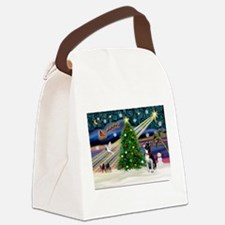 Boston Terrier - Christmas Magic Canvas Lunch Bag
