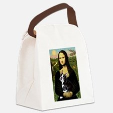 Boston Terrier - Mona Lisa Canvas Lunch Bag