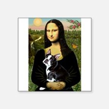 "Boston Terrier - Mona Lisa Square Sticker 3"" x 3"""