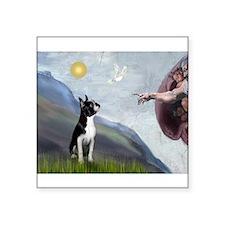 """Boston Terrier 3 - Creation Square Sticker 3"""" x 3"""""""