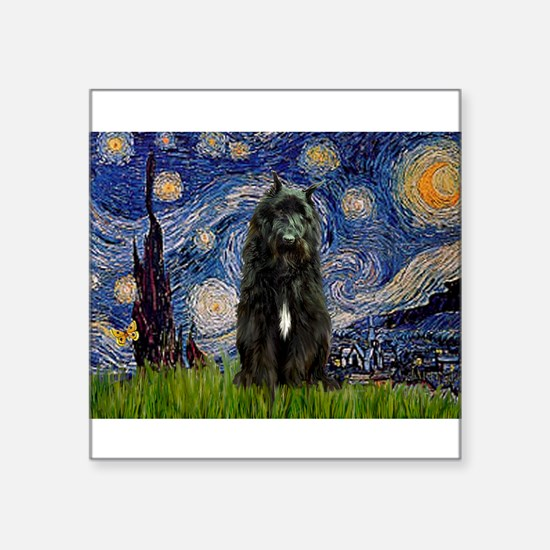 "5.5x7.5-Starry-Bouvier1.png Square Sticker 3"" x 3"""