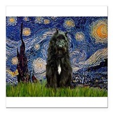 "5.5x7.5-Starry-Bouvier1.png Square Car Magnet 3"" x"