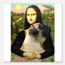 "TILE-Mona-EngMastiff7.PNG Square Car Magnet 3"" x 3"