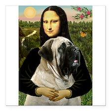 """Mona's Bull Mastiff Square Car Magnet 3"""" x 3"""""""