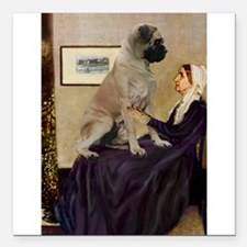 "Mom's Bull Mastiff Square Car Magnet 3"" x 3"""