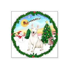 "Take Off1/Bull Terrier Square Sticker 3"" x 3"""