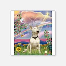 "Cloud Angel/Bull Terrier Square Sticker 3"" x"