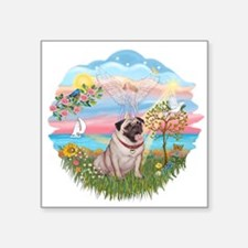 """AngelStar - Fawn Pug 2.png Square Sticker 3"""" x 3"""""""