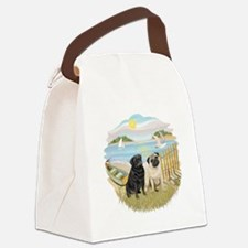 Row Boat-TwoPugs (F+B).png Canvas Lunch Bag