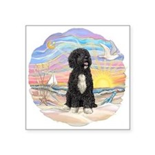 """OceanSunrise-PWD5bw.png Square Sticker 3"""" x 3"""""""