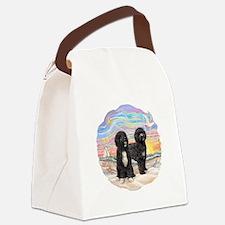 OceanSunrise-TwoBlackPWD.png Canvas Lunch Bag