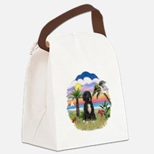 Palms-PWD5bw.png Canvas Lunch Bag