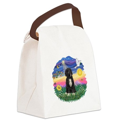 Twilight-PWD5bw.png Canvas Lunch Bag