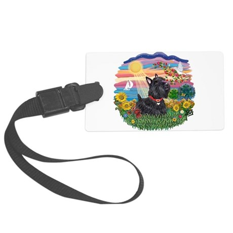 Autumn Sun - Scottish Terrier 6.png Large Luggage