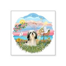 "Angel Star - Shih Tzu 3.png Square Sticker 3"" x 3"""