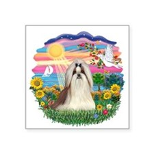 "AutumnSun-ShihTzu10.png Square Sticker 3"" x 3"""