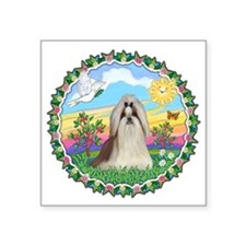 "HappySun-ShihTzu10.png Square Sticker 3"" x 3"""