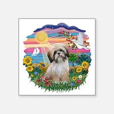 "AutumnSun-ShihTzu13.png Square Sticker 3"" x 3"""