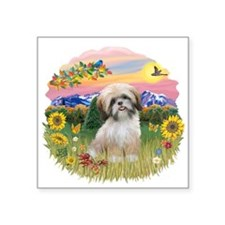 "MtCountry-ShihTzu13.png Square Sticker 3"" x 3"""