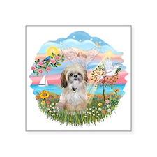 "Angel-Star-ShihTzu17r.png Square Sticker 3"" x 3"""