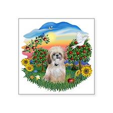 "BrightCouintry-ShihTzu17r.png Square Sticker 3"" x"