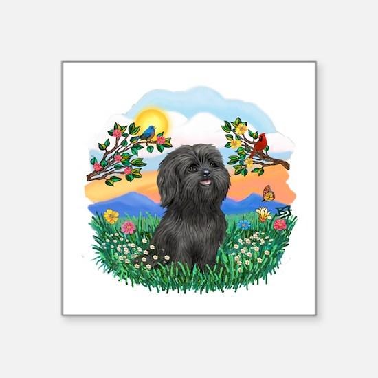 "BrighLife-Black Shih Tzu.png Square Sticker 3"" x 3"