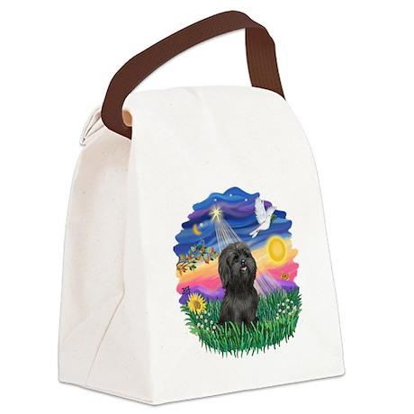 Twilight-BlackShih Tzu.png Canvas Lunch Bag