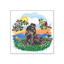 "Bright Life-Shih Tzu 24.png Square Sticker 3"" x 3"""