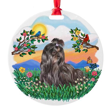 Bright Life-Shih Tzu 24.png Round Ornament