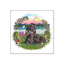 "Garden-Shore-ShihTzu24.png Square Sticker 3"" x 3"""