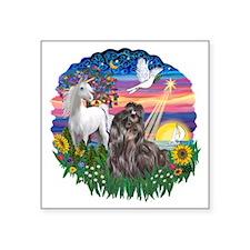"""MagicalNight-ShihTzu24.png Square Sticker 3"""" x 3"""""""