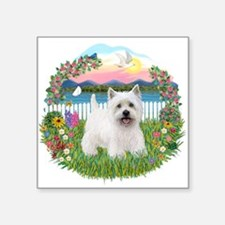 "Garden-Shore-Westie5.png Square Sticker 3"" x 3"""