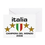 Italia Campioni Scudo Greeting Cards (Pk of 10