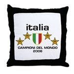Italia Campioni Scudo Throw Pillow