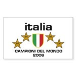 Italia Campioni Scudo Rectangle Sticker