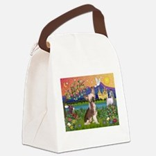 Chinese Crested Fantasyland Canvas Lunch Bag