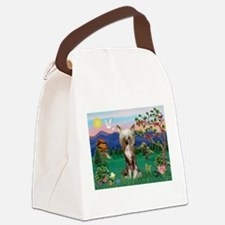 Pagoda/Chinese Crested Canvas Lunch Bag
