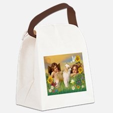 Angels/Puff Crested Canvas Lunch Bag