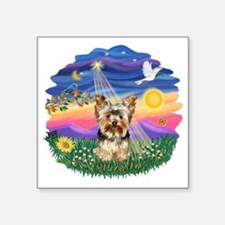 """Twilght - Yorkie 17.png Square Sticker 3"""" x 3"""""""